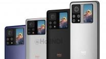 Render Xiaomi Mi Mix 4 menunjukkan tampilan sekunder di bagian belakang