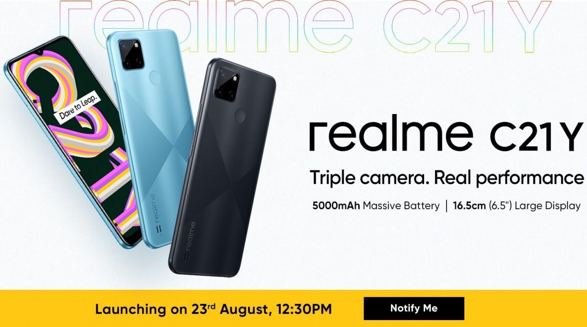Peluncuran Realme C21Y India ditetapkan untuk 23 Agustus