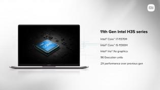 Mi Notebook Ultra hadir dengan CPU Intel Generasi ke-11, RAM hingga 16GB, dan SSD 512GB