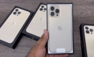 Gold Apple iPhone 13 Pro Max unboxed on video