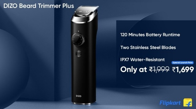 The DIZO Beard Trimmer Plus is IPX7 water resistant