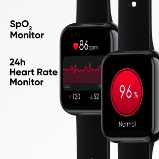 Heart rate and SpO2 sensors