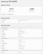 Exynos 2200 Geekbench scorecard