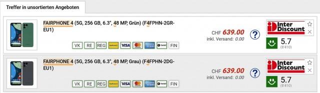 Fairphone 4 5G listing (image: @L4yzRw)