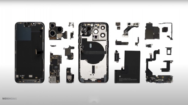 iPhone 13 Pro completely dissembled (source: WekiHome)