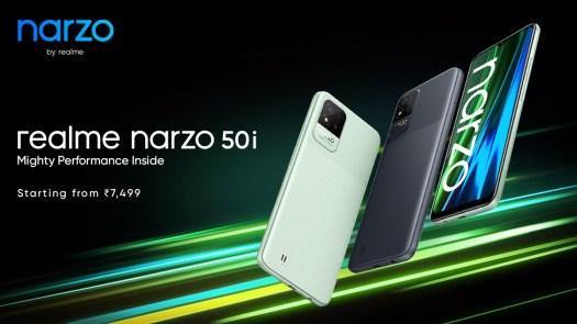 "Realme narzo 50A and 50i debut alongside Band 2 and Smart TV Neo 32"""