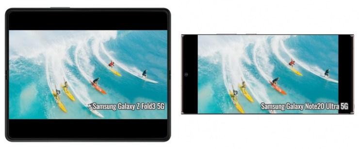 Video size comparison: Galaxy Z Fold3 vs. Z Flip3 vs. Note20 Ultra vs. S21 Ultra
