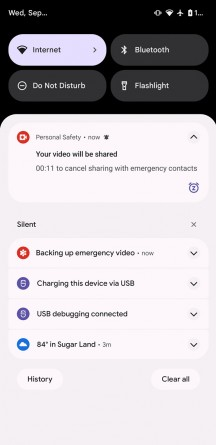 Personal Safety app options (images: XDA Developers)
