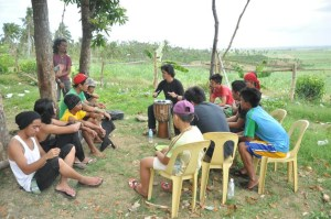 Youth participants in Cebu, Philippines learning about permaculture