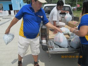 Rotary member Boy San Luis of Rotary Iligan East helped spearhead the volunteer efforts