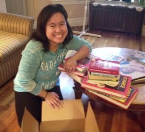 2015 NEXTGEN Fellow Jeselle Santiago collected used books for elementary school in Iligan October 2015