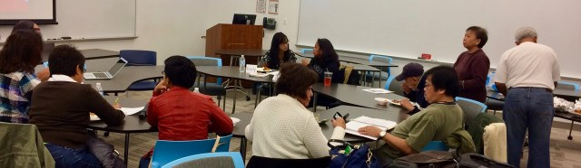 Participants joined the FilipinX: Xplore Our History Workshops at DePaul University in Chicago (October 2016)