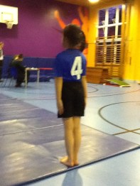 Tilly - Waiting to start her floor routine