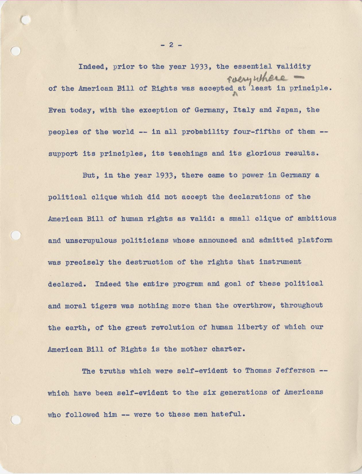 Radio Speech Of The President Bill Of Rights Day Pg2