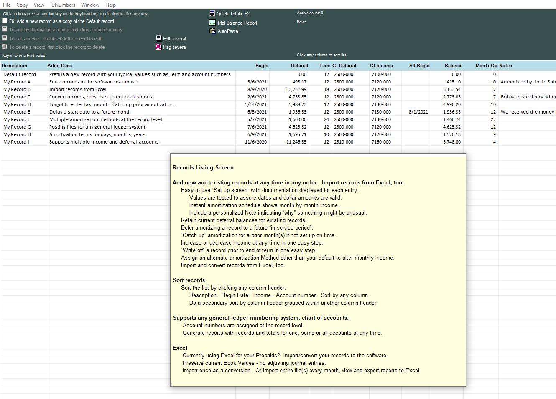 Deferred Revenue Worksheet Amortization Software