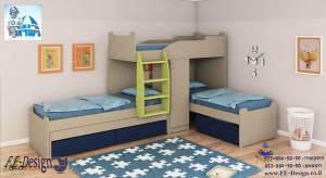 מיטת קומותיים מעוצבות מבית F.E-Design
