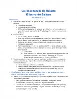 Las enseñanzas de Balaam
