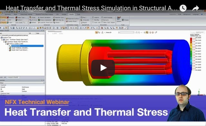 Heat Transfer and Thermal Stress Simulation in Structural Analysis