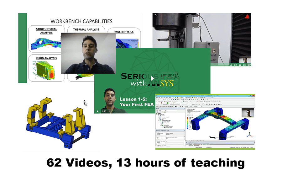 """Questions and Answers about the """"Serious FEA with Ansys"""" Course"""