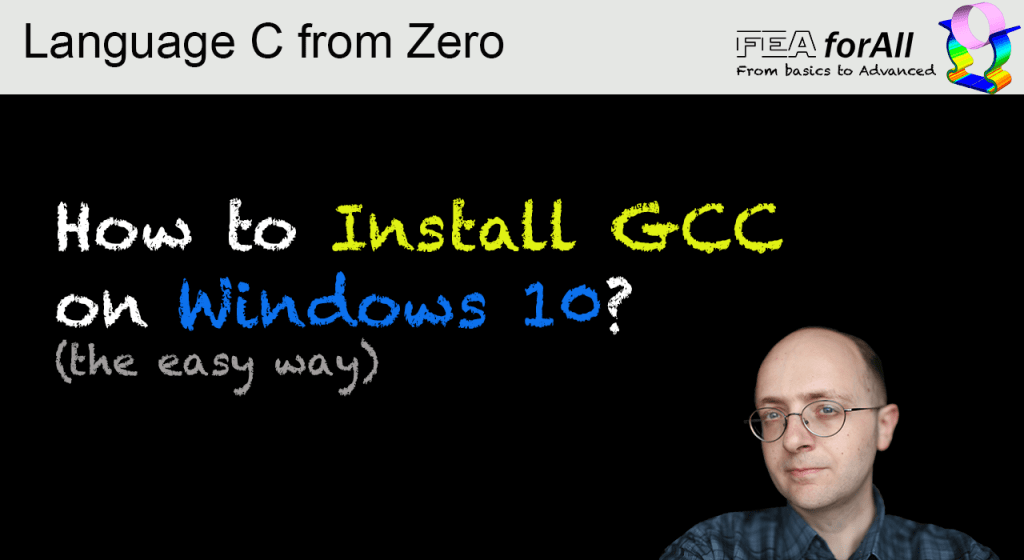 How to install the C language GCC compiler on Windows