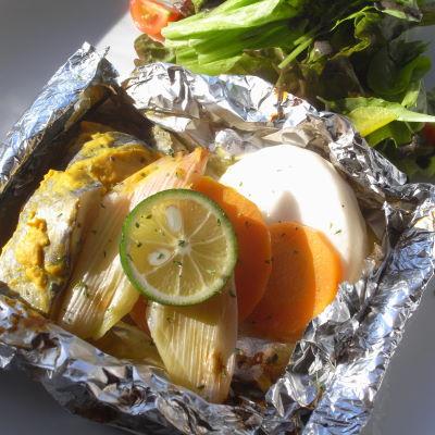 白身魚と冬野菜のホイル焼き