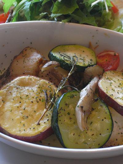 ホキと野菜のグリル ローズマリー風味