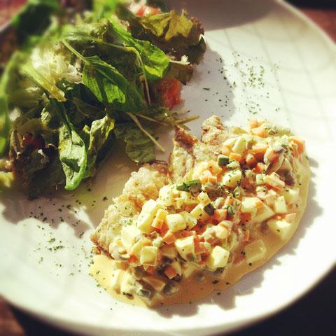 白身魚のソテー タルタルソース