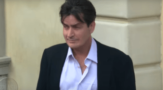 Charlie Sheen. Photo captured from the video.