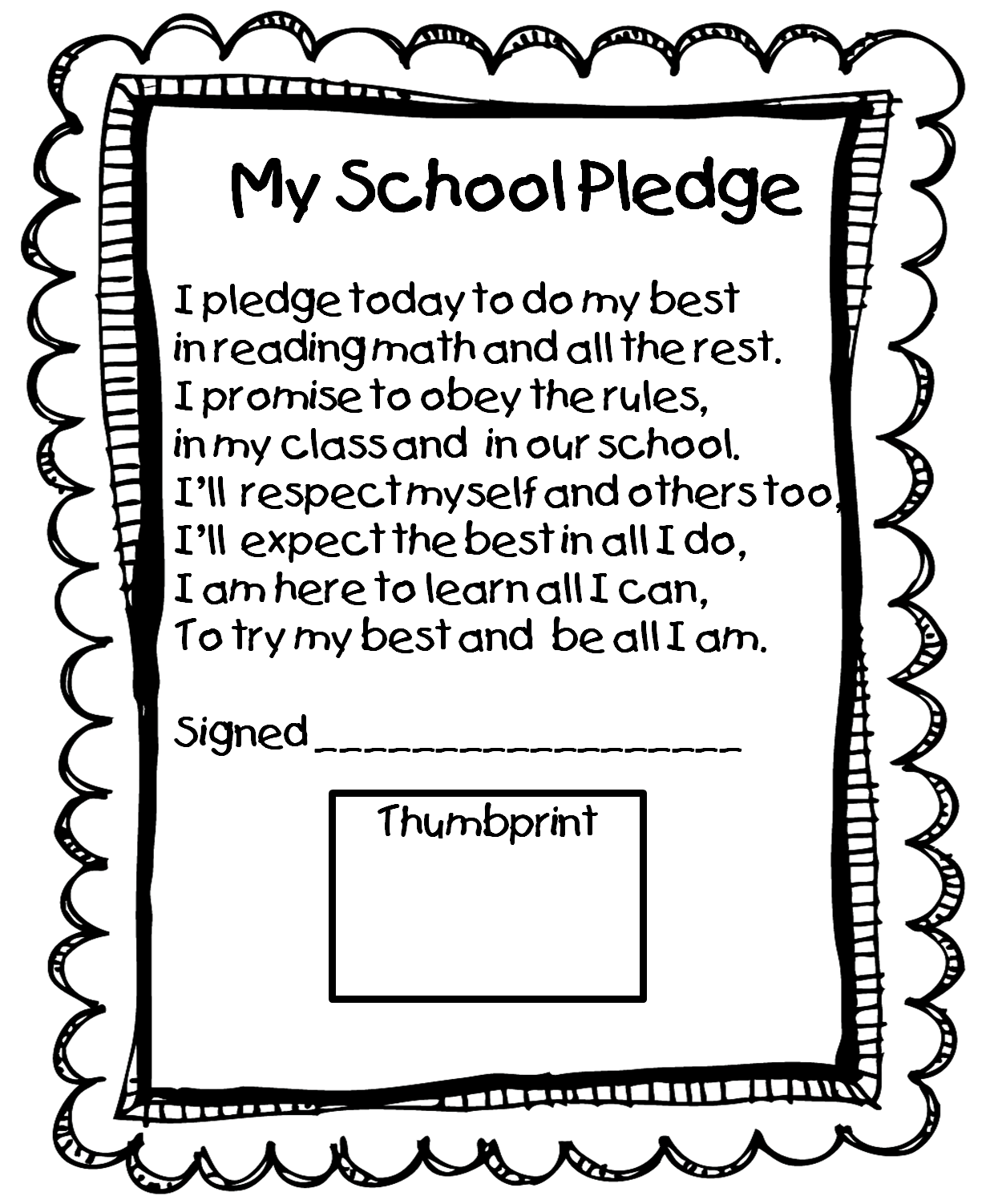 School Contract Class Rules