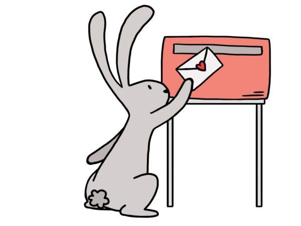 Hop stuurt post