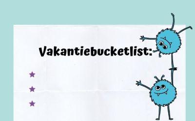 Bucketlist voor in de vakantie