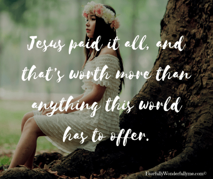 Jesus paid it all image