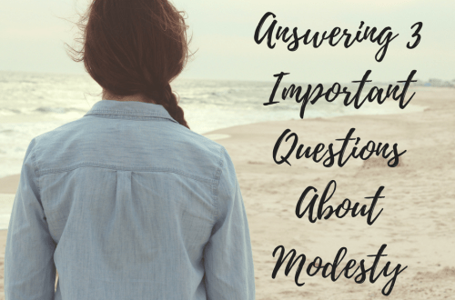 Answering 3 Important Questions About Modesty