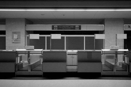 Check-in desks for Cirrus Airlines