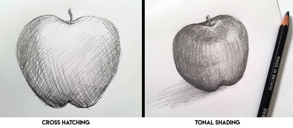 Cross hatching vs tonal shading