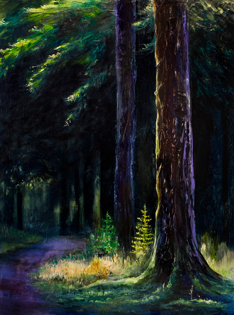 Forest Light realism oil painting