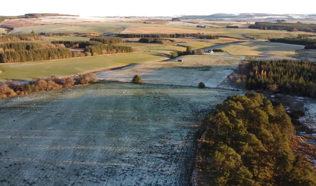 Frosty fields of Morayshire, Scotland in January