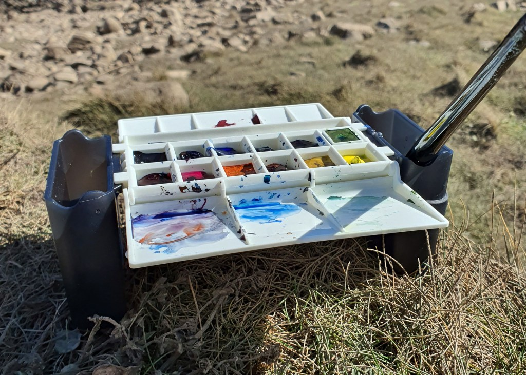 The portable painter in use outside