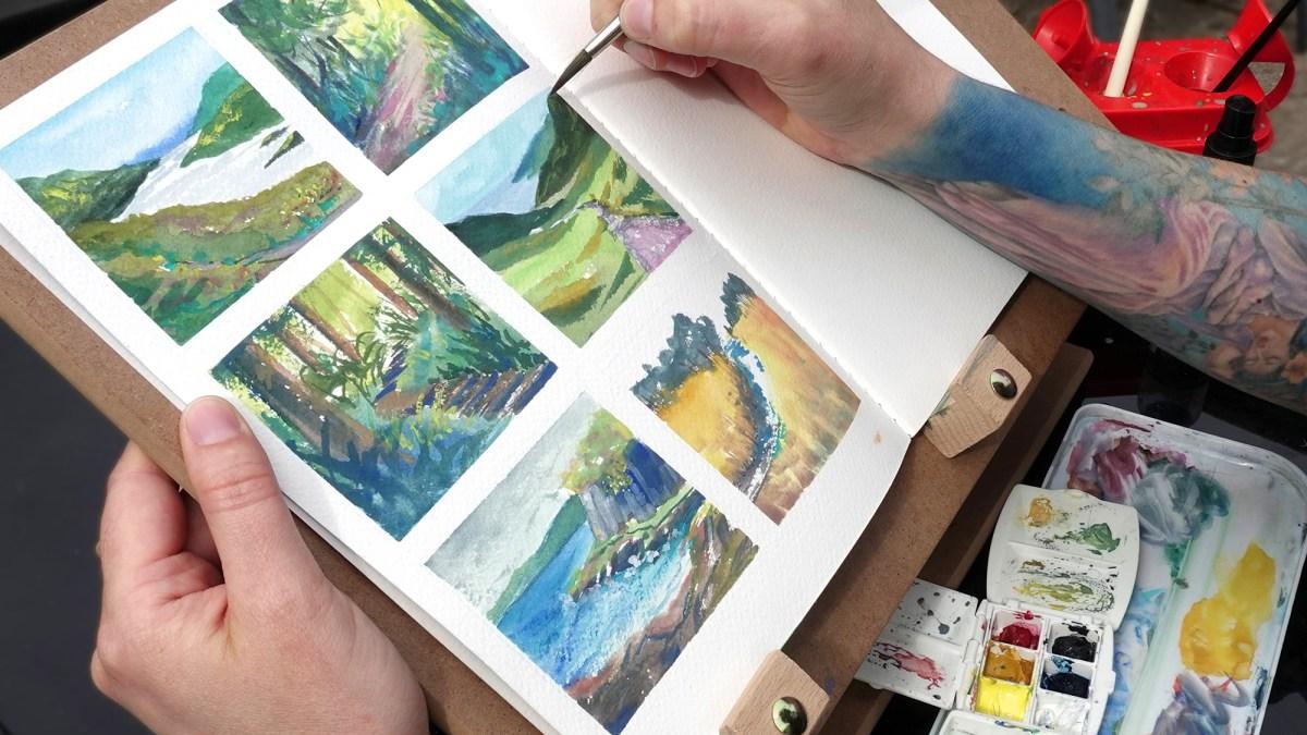 Pathways series of paintings