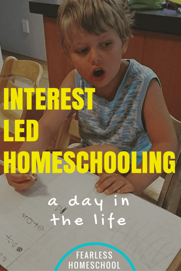 An interest-led, Reggio-inspired homeschooling day in the life featured on Fearless Homeschool
