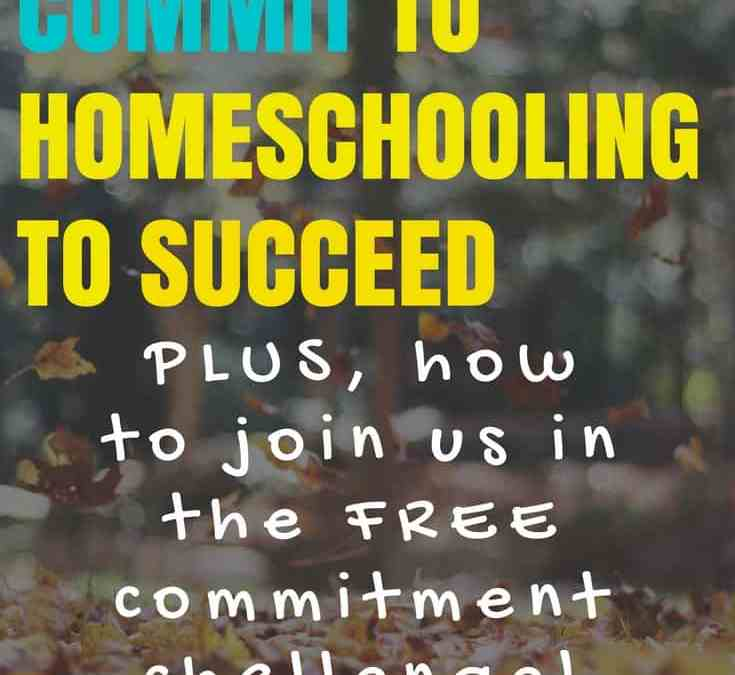 Why you must commit 100% to homeschooling if you want to succeed