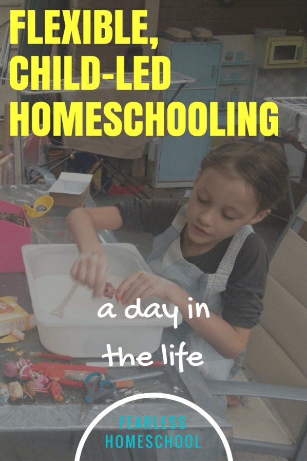 A flexible, child-led, homeschooling day in the life - featured on Fearless Homeschool.
