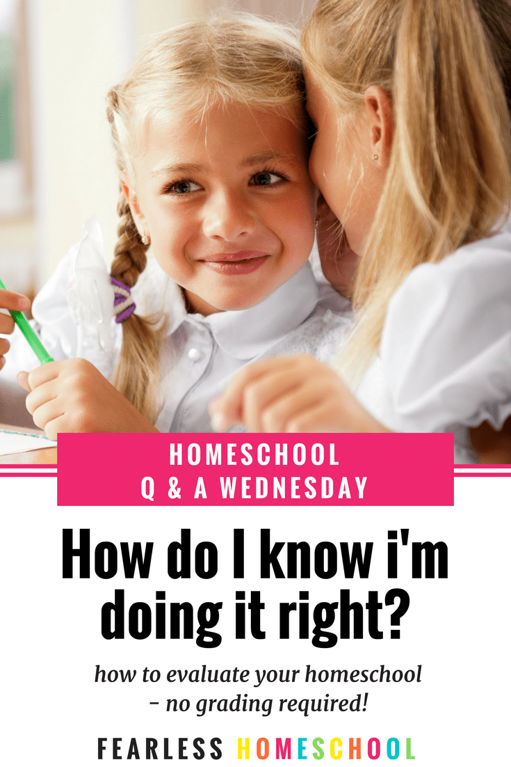 Homeschooling Q & A Wednesday - How do I know i'm doing it right? It's the question that haunts many homeschooling parents – how do I know that I'm doing it right? I'm responsible for the education of my children and there's no-one and nothing to tell me WHAT to do and WHEN to do it and HOW to do it and argh! Meltdown. Click through to find out if you're doing it right.