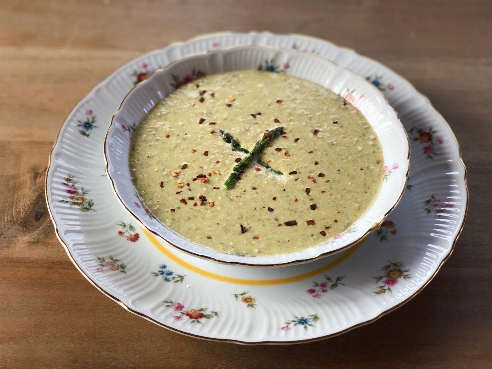 Photos of asparagus soup keto creamy