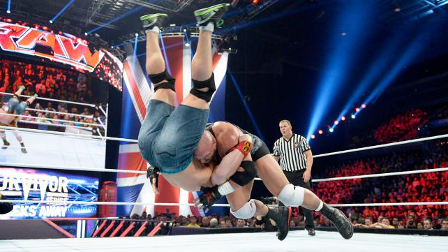 Ryback vs John Cena Raw 11:10:14