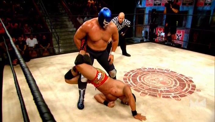 :ucha Underground Chavo Guerrero Jr vs Blue Demon Jr
