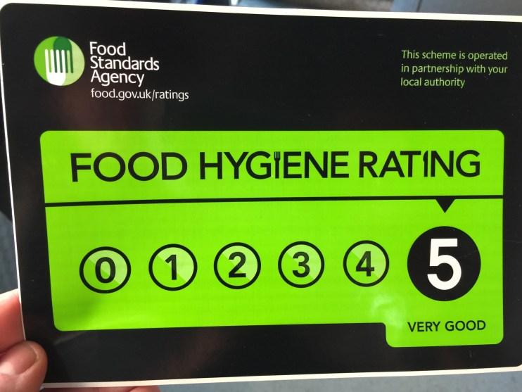5 star food hygeine sticker