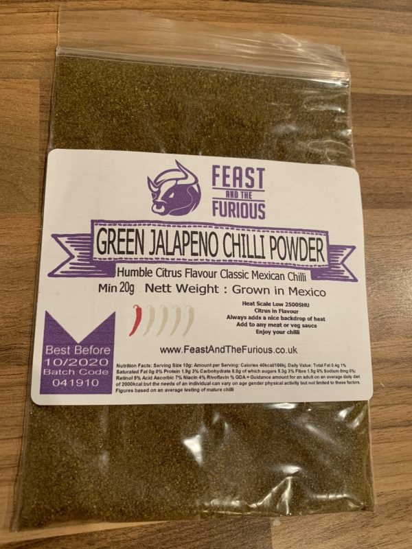 Green Jalapeño Chilli Powder