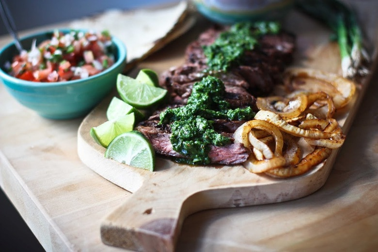 Grilled Steak Tacos with Cilantro Chimichurri Sauce....flavorful and ...