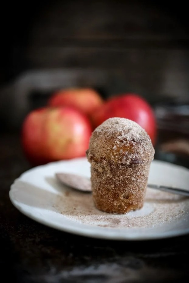 """Apple Brown Butter Bouchons ( also called """" donut muffins """")  --these delicious guys are very easy to make and so delicious. Baked instead of fried they are healthier than donuts. 